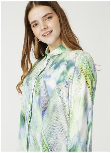 Selen Selen Yeşil Desenli Bluz Yeşil